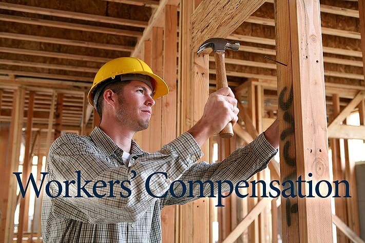 workers compensation construction worker stock photo